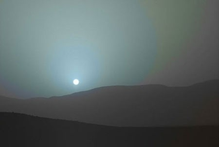 غروب خورشید در مریخ(+تصاویر)