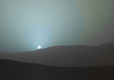 اخبار,اخبار گوناگون  , غروب خورشید در مریخ