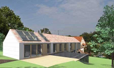 خانهای مدرن با دیوارهایی از جنس آب