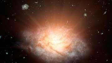 اخبار,اخبار علمی,کشف درخشانترین کهکشان جهان