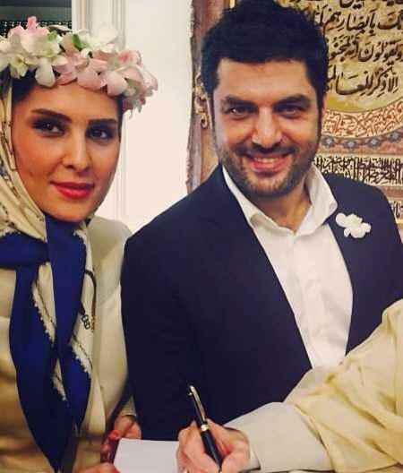اخبار , اخبار فرهنگی ,سام درخشانی در کنار نامزدش,تصاویر ازدواج سام درخشان