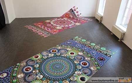 اخبار,اخبارگوناگون ,طرحهای زیبا روی فرش و پارچه