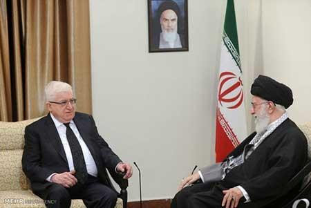 دیدار رییس جمهوری عراق با رهبر معظم انقلاب اسلامی (عکس)