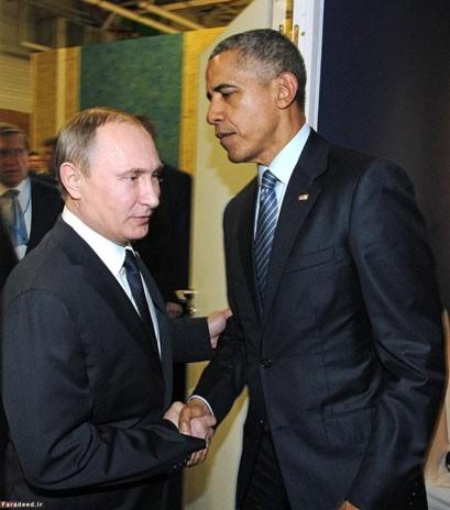 دیدار پوتین و اوباما در پاریس(تصاویر)