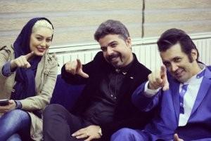 عکس : سحر قریشی و حسام نواب صفوی در افتتاحیه یک فست فود!