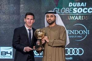 لیونل مسی در دوبی جایزه گرفت