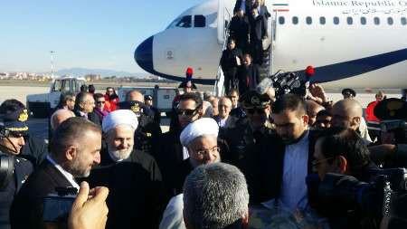 روحانی وارد رم شد/ استقبال وزیر خارجه ایتالیا از رییس جمهوری(تصاویر)