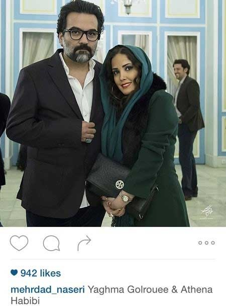 یغما گلرویی و همسرش در کاخ سعد آباد (+عکس)