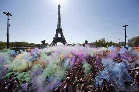 عکسهای جالب,جشن پودرهای رنگی ,تصاویر دیدنی