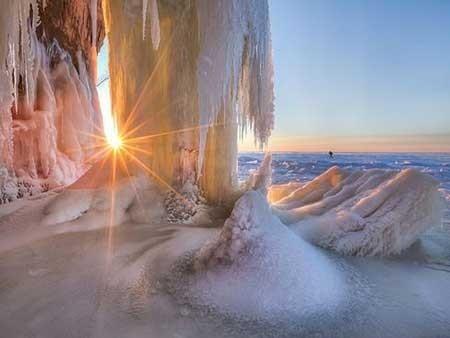 عکسهای جذاب,غار یخی,تصاویر جالب