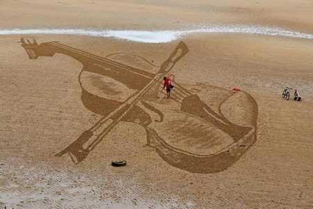 عکسهای جذاب,تصاویر جالب,نقاشی ماسه ای