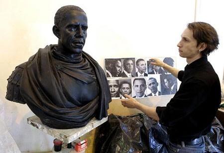 تصاویر دیدنی,تصاویر جالب,مجسمه رییس جمهور آمریکا