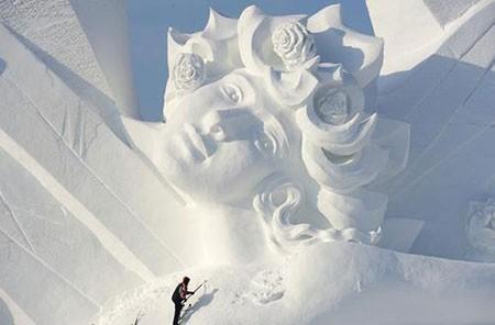 عکسهای جذاب,تصاویر جالب,مجسمه های برفی