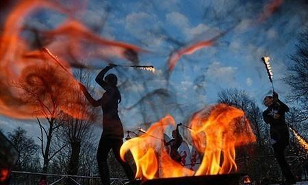 تصاویر دیدنی,تصاویر جالب,جشنواره دود و آتش