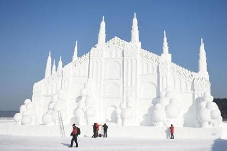 عکسهای جالب,تصاویر دیدنی,جشنواره برف و یخ