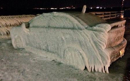 عکسهای جذاب,تصاویر جالب,یخزدگی خودرو