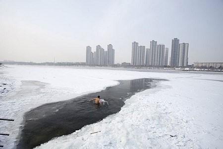 عکسهای جالب,تصاویر جالب,رودخانه یخ زده