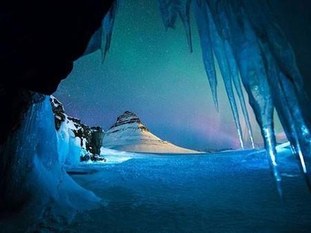 عکسهای جالب,عکسهای جذاب,غار یخی