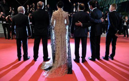 عوامل فیلم فروشنده در مراسم فرش قرمز جشنواره کن (عکس)
