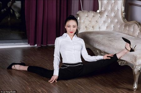 اخبارگوناگون ,خبرهای   گوناگون ,انطعاف پذیرترین دختر چینی