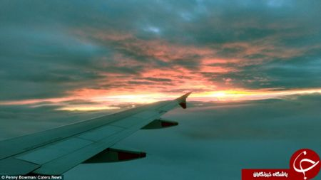 سوختن آسمان در آتش +عکس