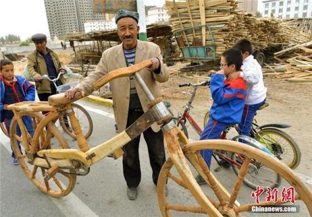 اخبارگوناگون,خبرهای گوناگون,دوچرخه چوبی