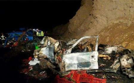 تلفات حادثه رانندگی همراه با آتش سوزی در یزد 13 نفر اعلام شد