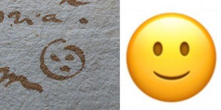 پیدا کردن قدیمیترین شکلک جهان در یک یادداشت 382 ساله