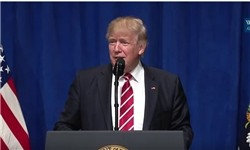 واکنش ترامپ به اظهارات روحانی در راهپیمایی