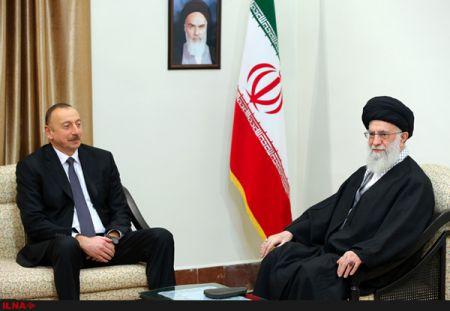 رهبر انقلاب در دیدار رییسجمهور آذربایجان: مصلحت دولت آذربایجان در همراهی با احساسات مذهبی مردم است