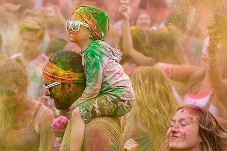 عکسهای جالب,تصاویر دیدنی,جشن رنگ ها