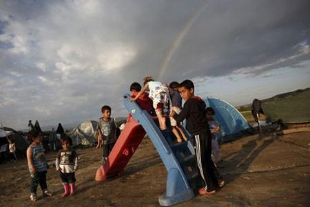 عکسهای جالب,عکسهای جذاب،کودکان پناهجو