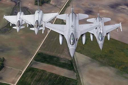 عکسهای جالب,تصاویر دیدنی,جنگنده های اف 16