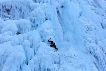 عکسهای جذاب,تصاویر دیدنی,آبشار یخ زده