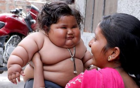 شیرخوار هندی با چاقی بیش از حد