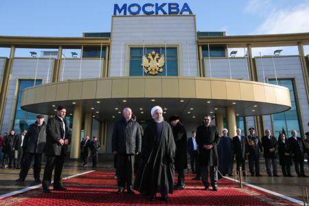 توئیت ظریف درباره سفر روحانی به روسیه