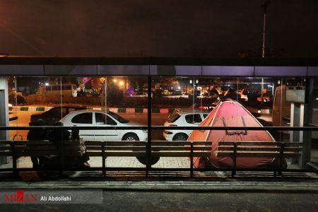 مشهد در شب پس لرزه ها