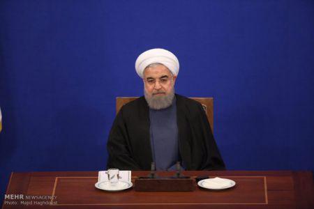 روحانی : شرایط زندگی مردم در سال ۹۵ بهتر از پیش بینی های ما بود