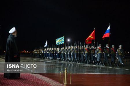 آیین بدرقه رییسجمهور کشورمان در فرودگاه مسکو
