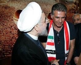 دیدار کیروش و ملیپوشان با رییسجمهور
