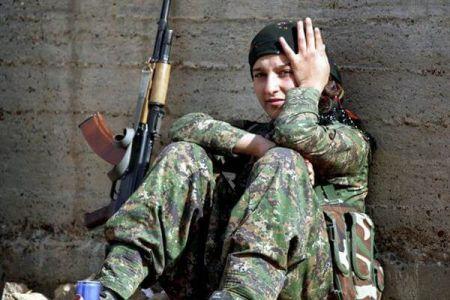اخبار,عکس خبری,ختران کردی که به جنگ داعش رفتند