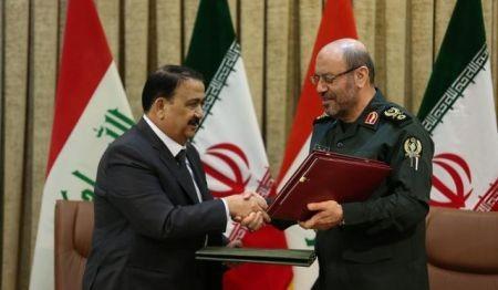 امضای یادداشت تفاهم همکاریهای دفاعی-نظامی میان ایران و عراق