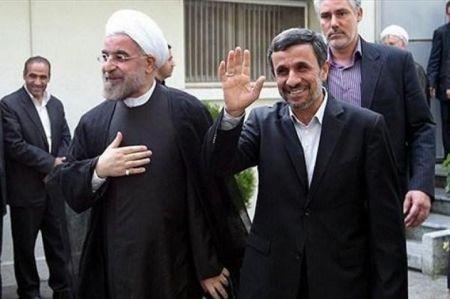 مقایسه دومین مراسم تحلیف روحانی و احمدینژاد