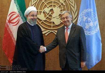 دیدار رئیس جمهوری با دبیرکل سازمان ملل