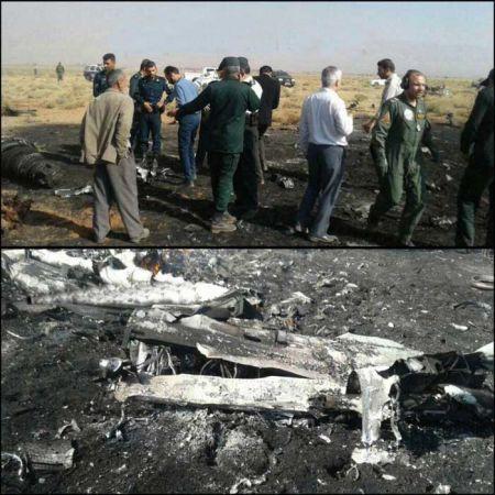 سقوط یک هواپیمای نظامی در سروستان فارس +عکس