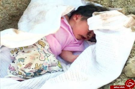 کشف نوزاد 7 روزه مدفون زیر خاک در حالی که زنده بود+عکس