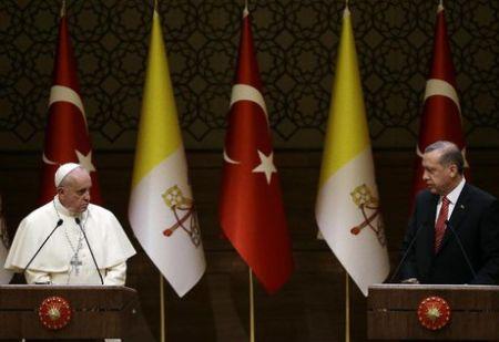 گفتوگوی اردوغان و پاپ درباره شهر قدس