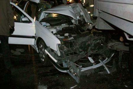 تصادف مرگبار در خیابان فداییان اسلام تهران (+عکس)