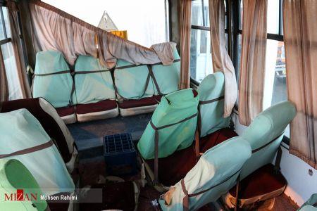 اخبار,اخبارحوادث,تصادف شدید مینی بوس و کامیون در حومه مشهد