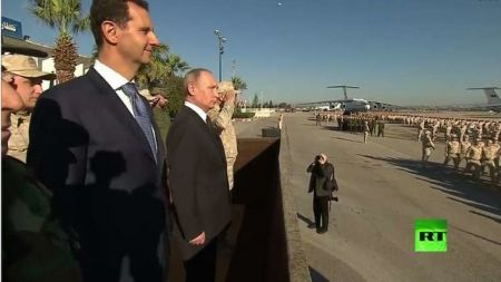 دیدار پوتین با بشار اسد در سوریه/ دستور خروج نیروهای روسی از سوریه صادر شد